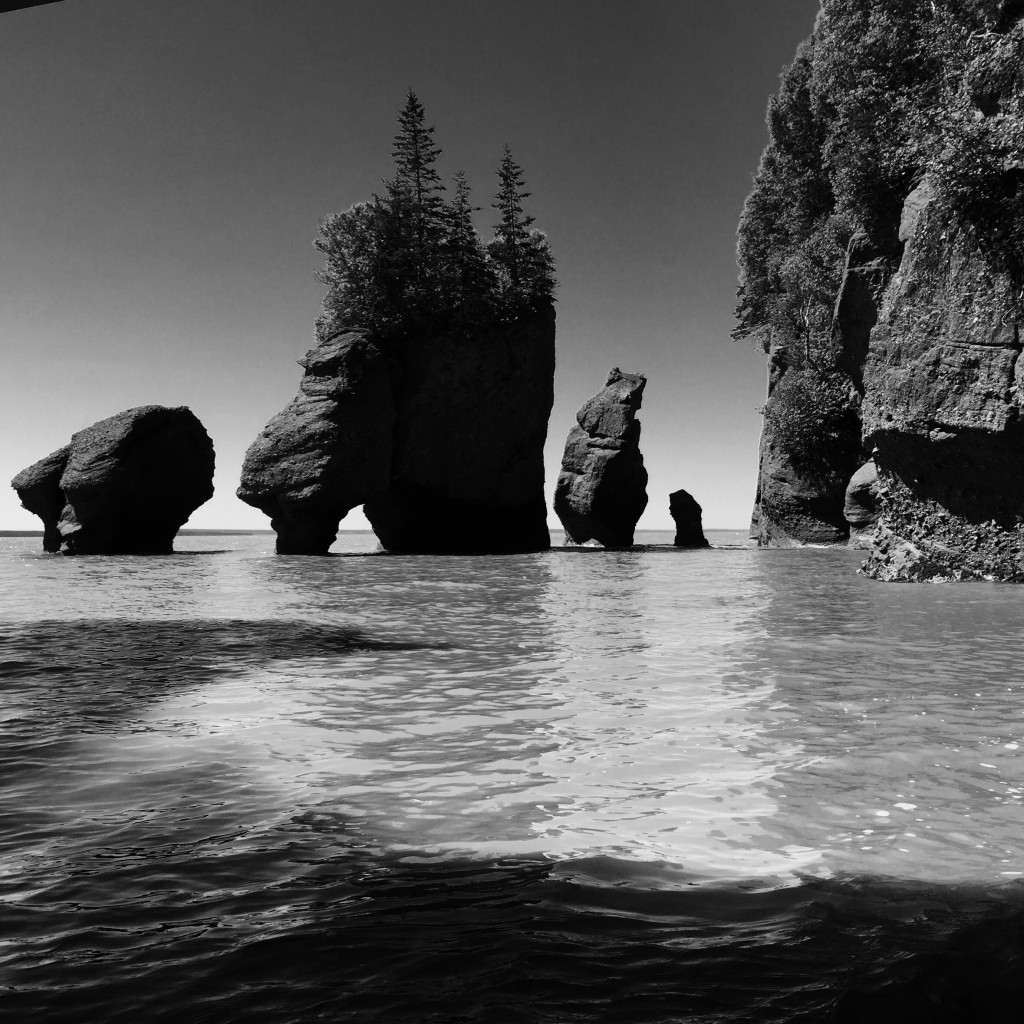 High tide at Hopewell Rocks - Bay Of Fundy